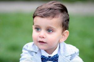blue boy with bow tie